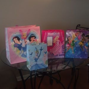 Other - Princess and TinkerBell Gift Bags Assorted Sizes